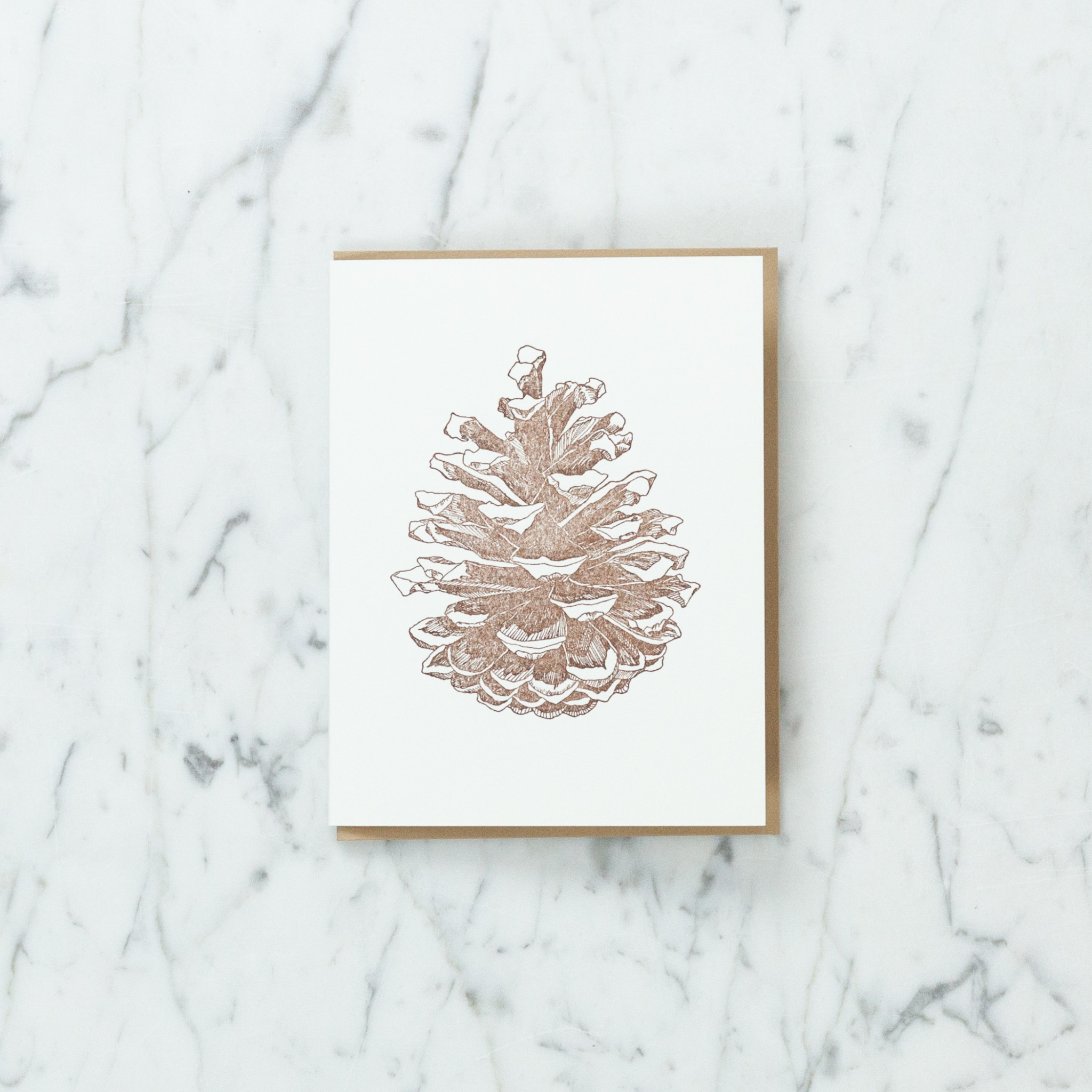 Loyal Supply Co Letterpress Pinecone Card