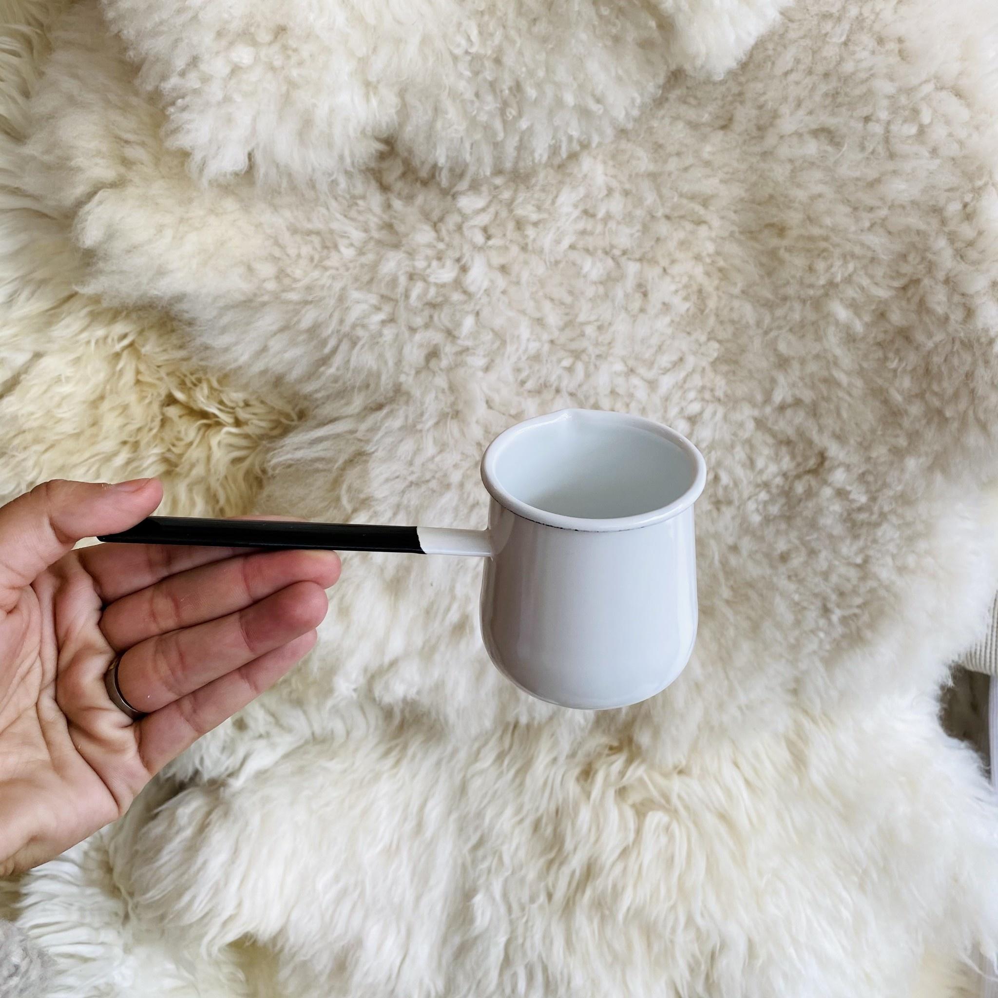 White Enamel Butter Warmer