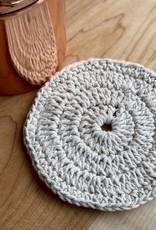 Hand Knit Organic Cotton Scrubber - Round - Individual