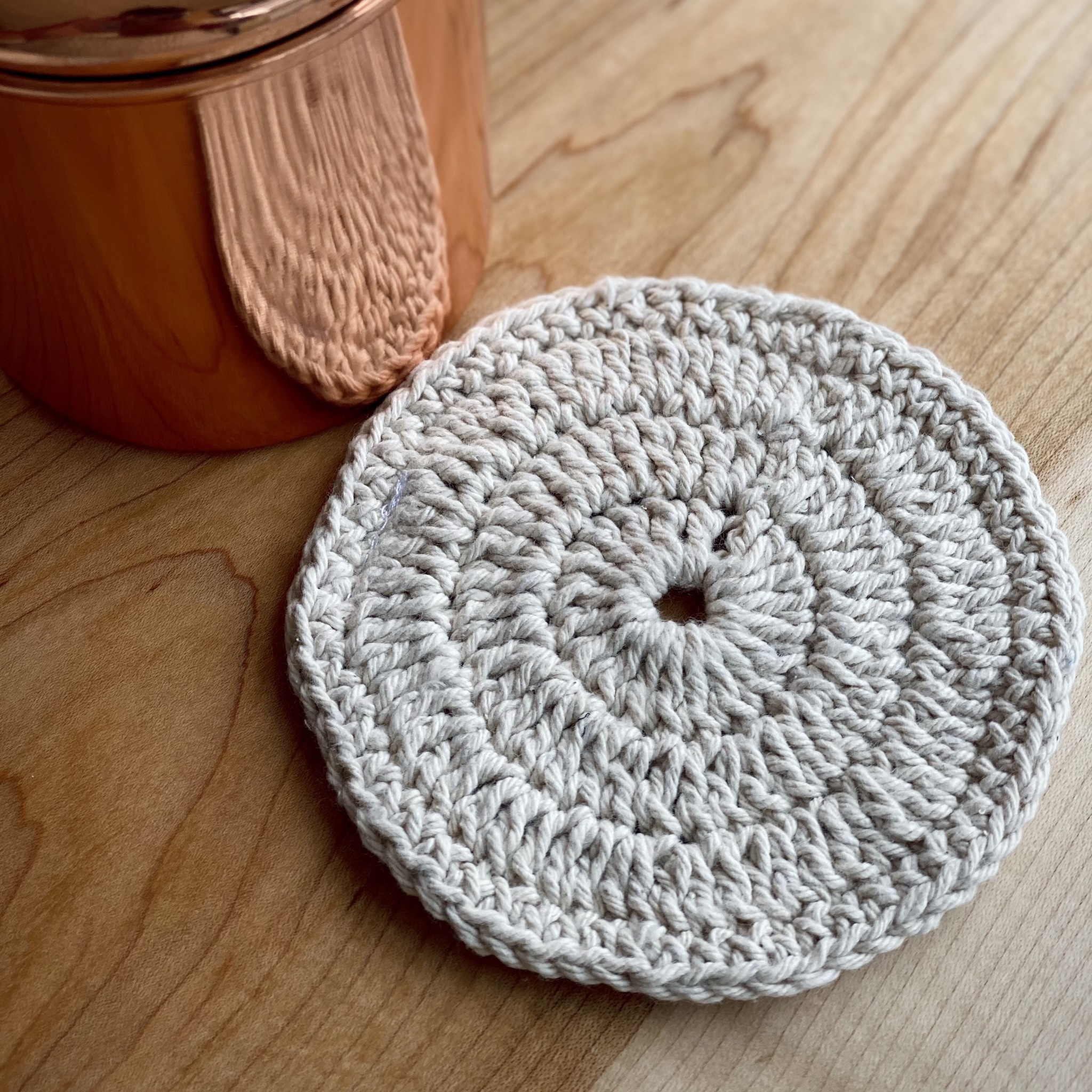 Toockies Hand Knit Organic Cotton Scrubber - Round - Individual
