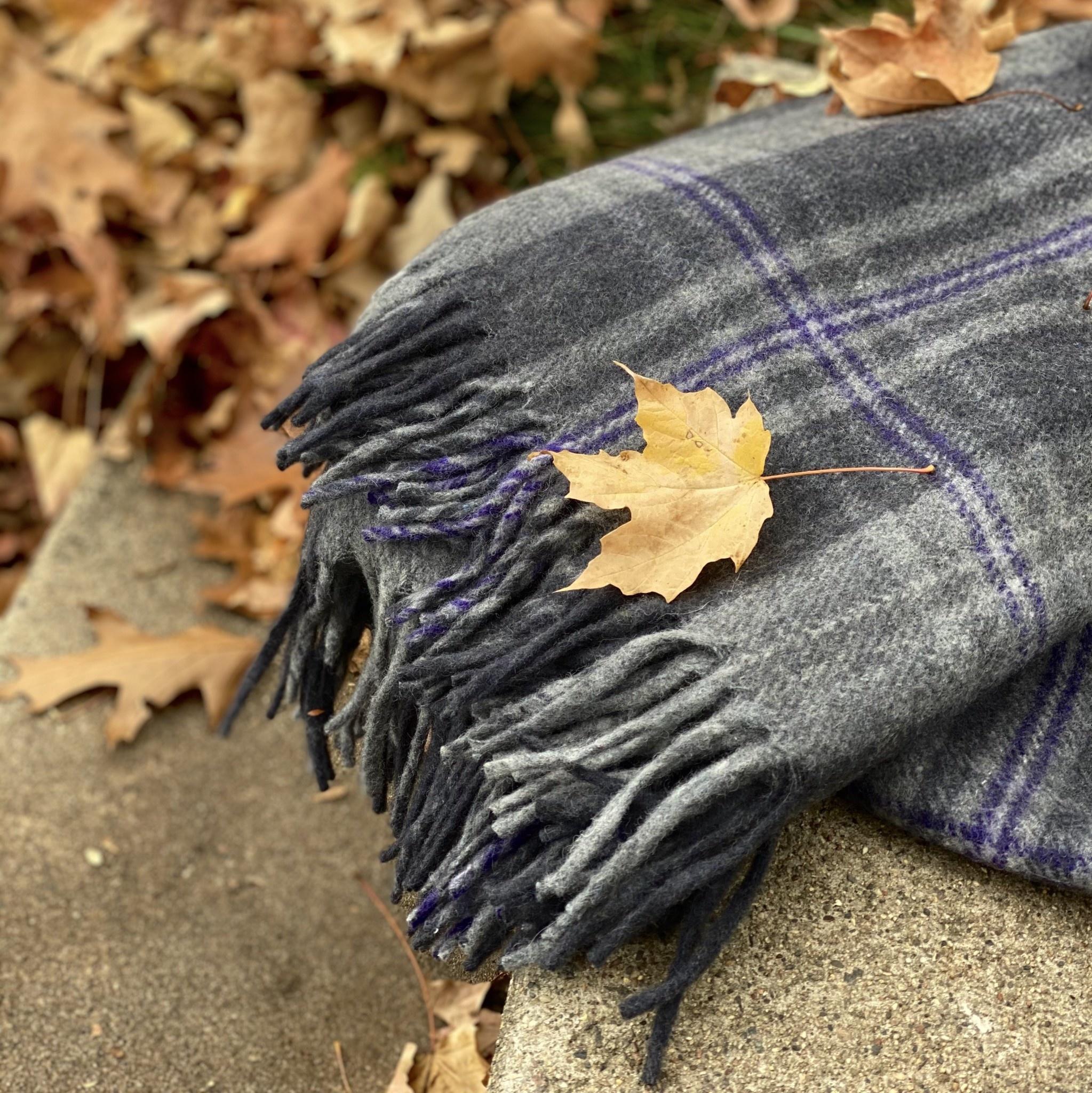 The Tartan Blanket Co Recycled Wool Blanket - Persevere Flint Grey Tartan