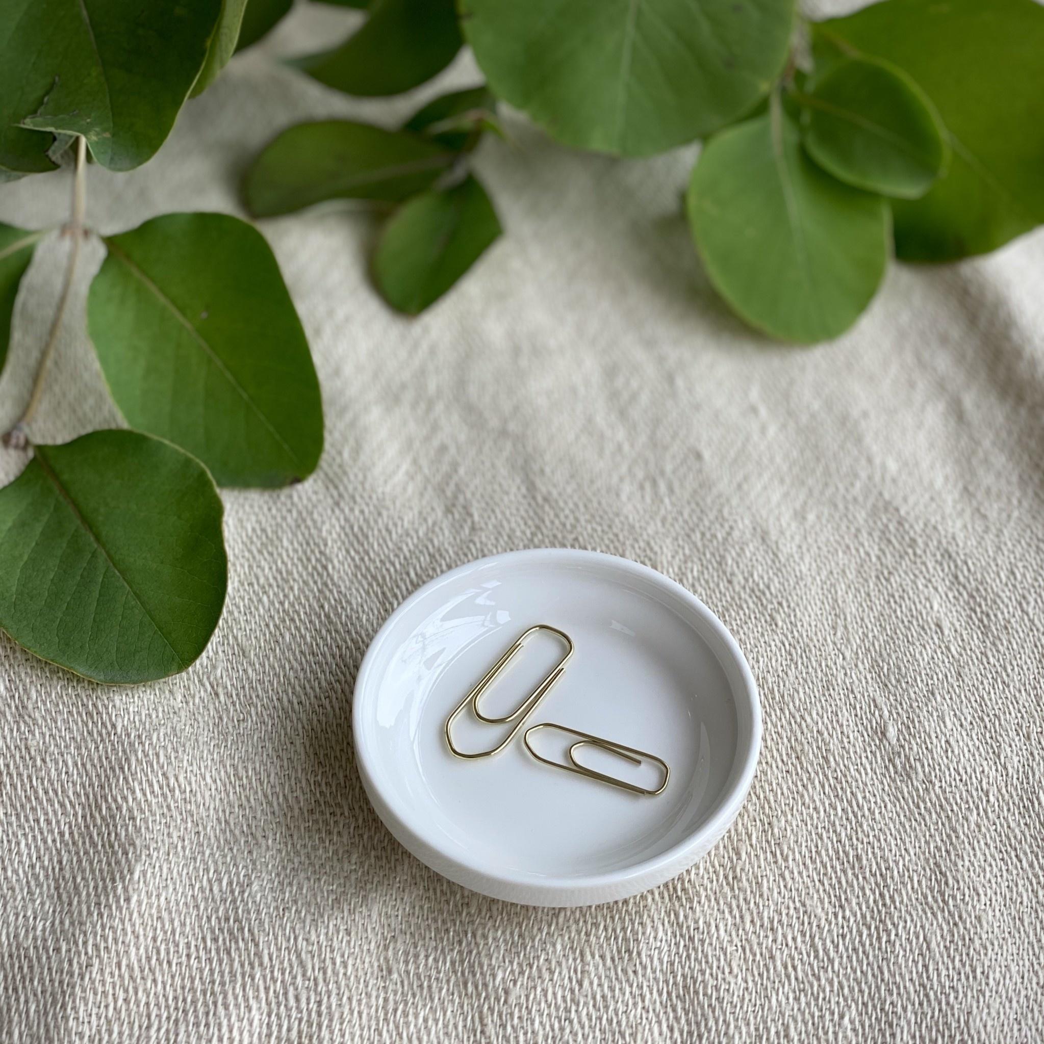 "Belgian Porcelain Tiny Dish - White - 2 3/4"""