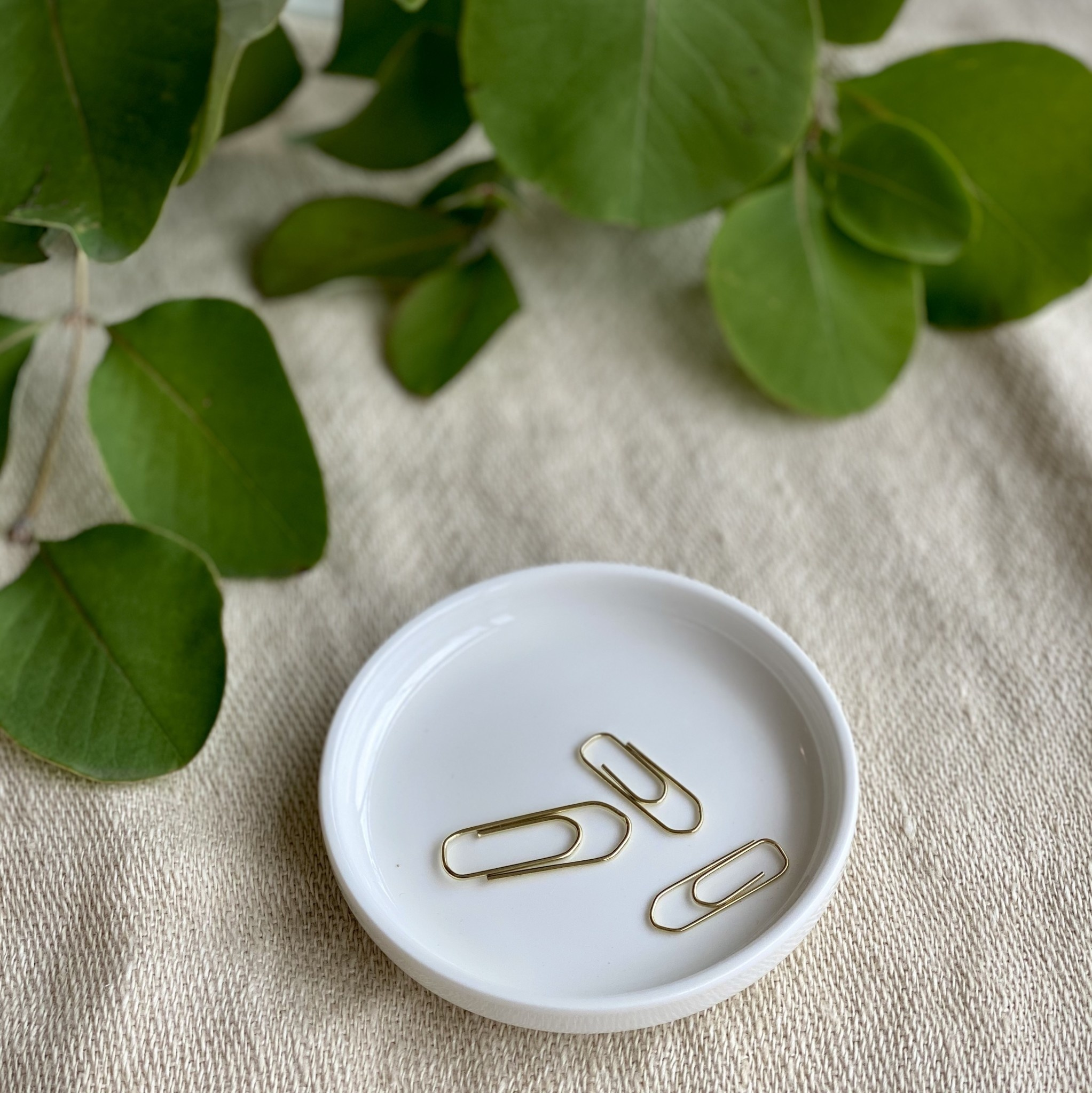 Belgian Porcelain Small Dish - White - 3 1/2""