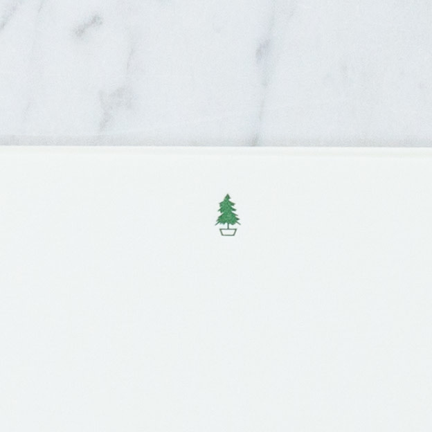 Pomegranate Press Letterpress Card and Envelope - Little Evergreen