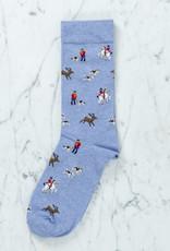 Royalties Paris Socks - David Blue Horses