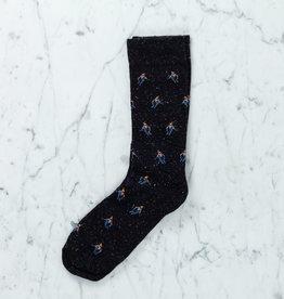 Royalties Paris Socks - Hermann Skier - Black