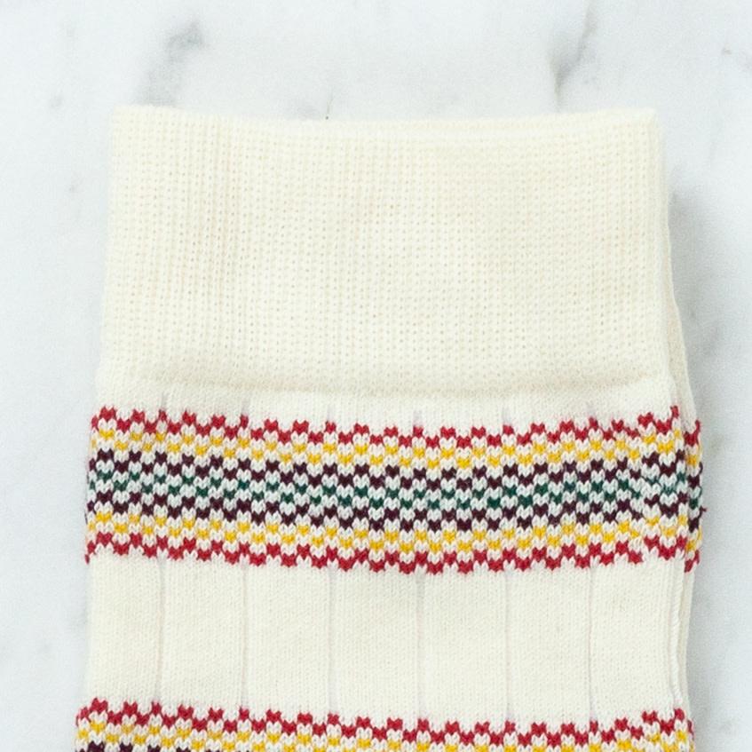 Royalties Paris Socks - Charly Vintage Colorful Stripe - Natural