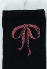 Royalties Paris Socks - Milady Red Bows - Black