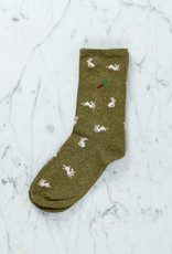 Royalties Paris Socks - Rabbits in Bronze