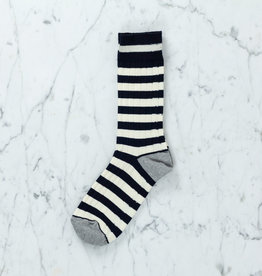 Royalties Paris Socks - Teddy Blue Stripe