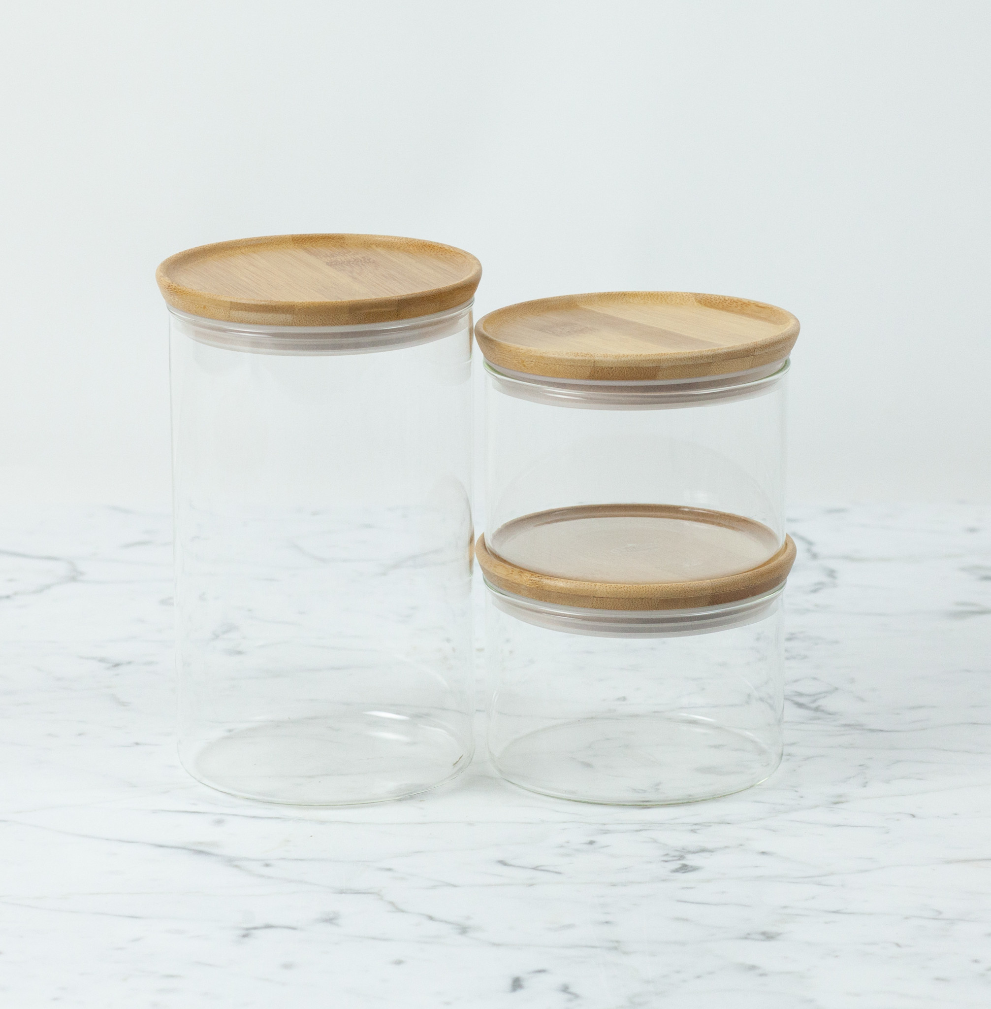 Glass Storage Jar with Bamboo Lid - Large