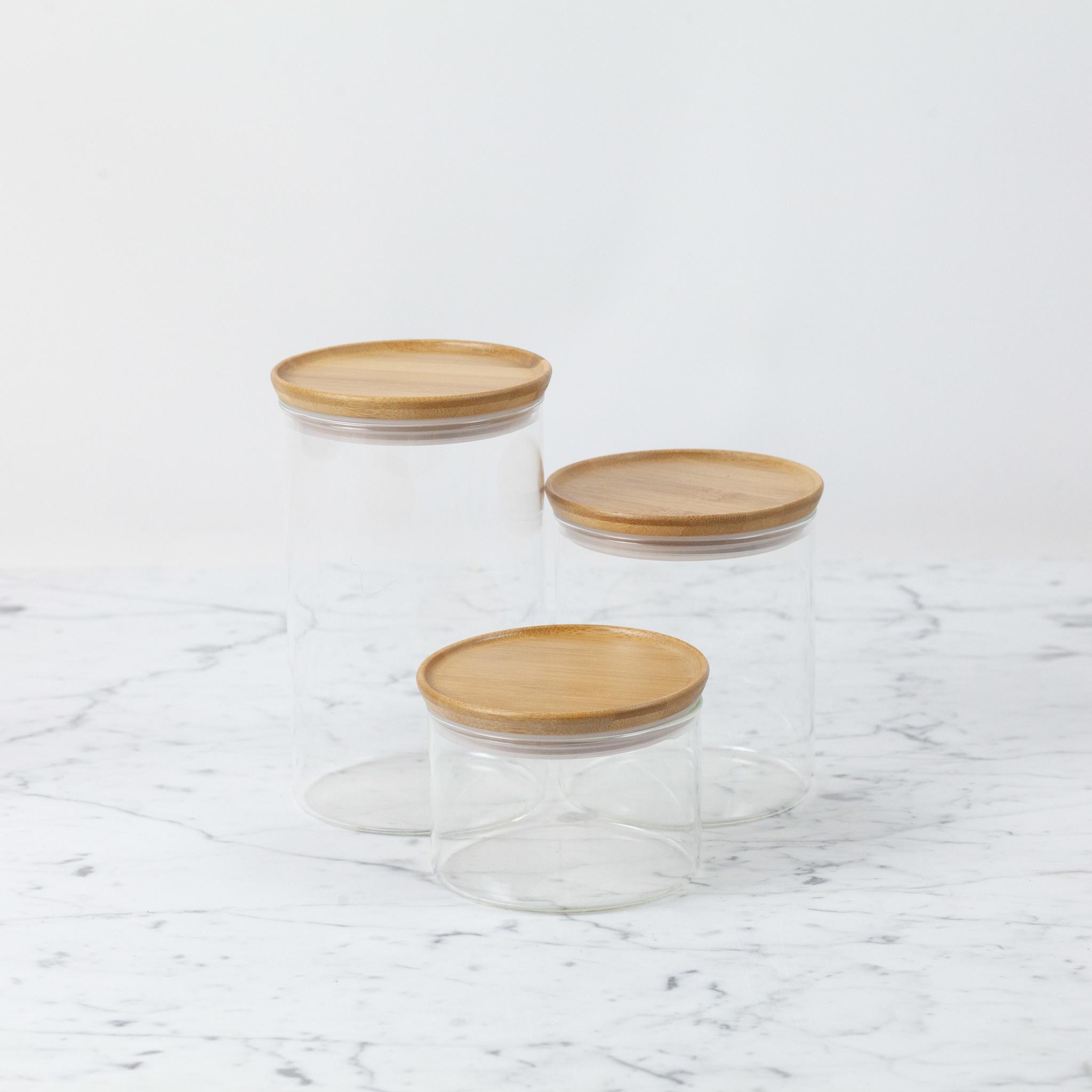 Trendglas Glass Storage Jar with Bamboo Lid - Medium