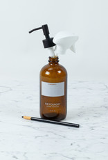 The Foundry Home Goods The Foundry Amber Glass Bottle 16oz - Empty - includes pump + spray options