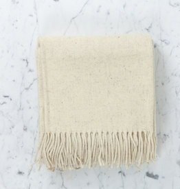 Rustic Wool Blanket - Cream