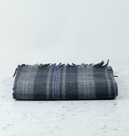 The Tartan Blanket Co Recycled Wool Blanket - Persevere Flint Grey Tartan