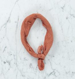 Rosemarine Textiles Plant Dyed Cotton Gauze Bandana - Terracotta