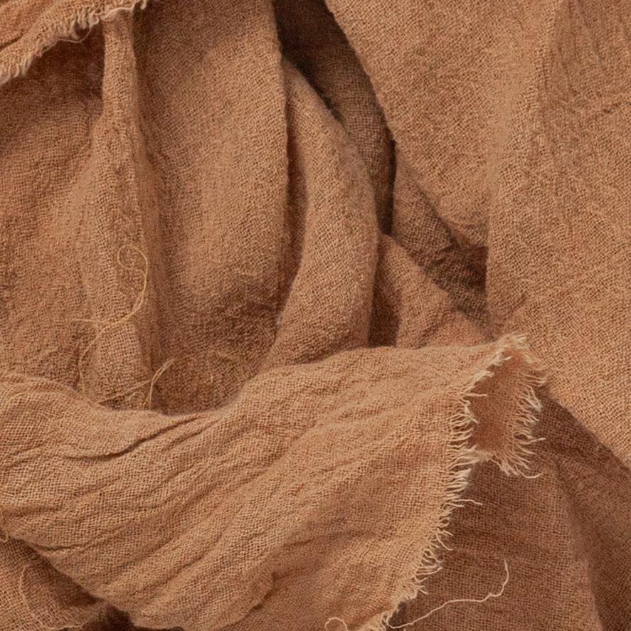 Rosemarine Textiles Plant Dyed Cotton Gauze Bandana - Rust