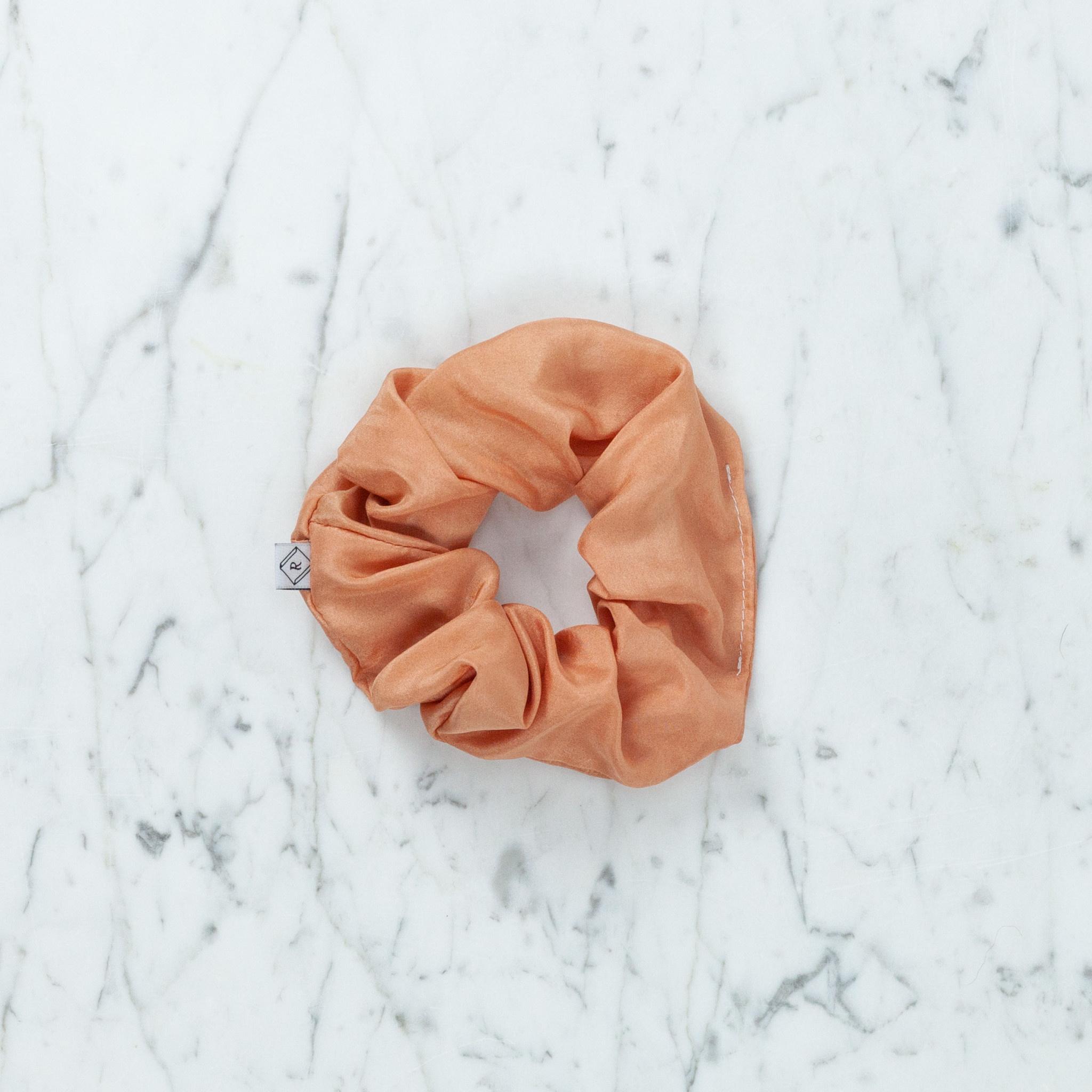 Rosemarine Textiles Plant Dyed Silk Scrunchie - Terracotta
