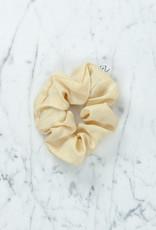 Rosemarine Textiles Plant Dyed Silk Scrunchie - Sand