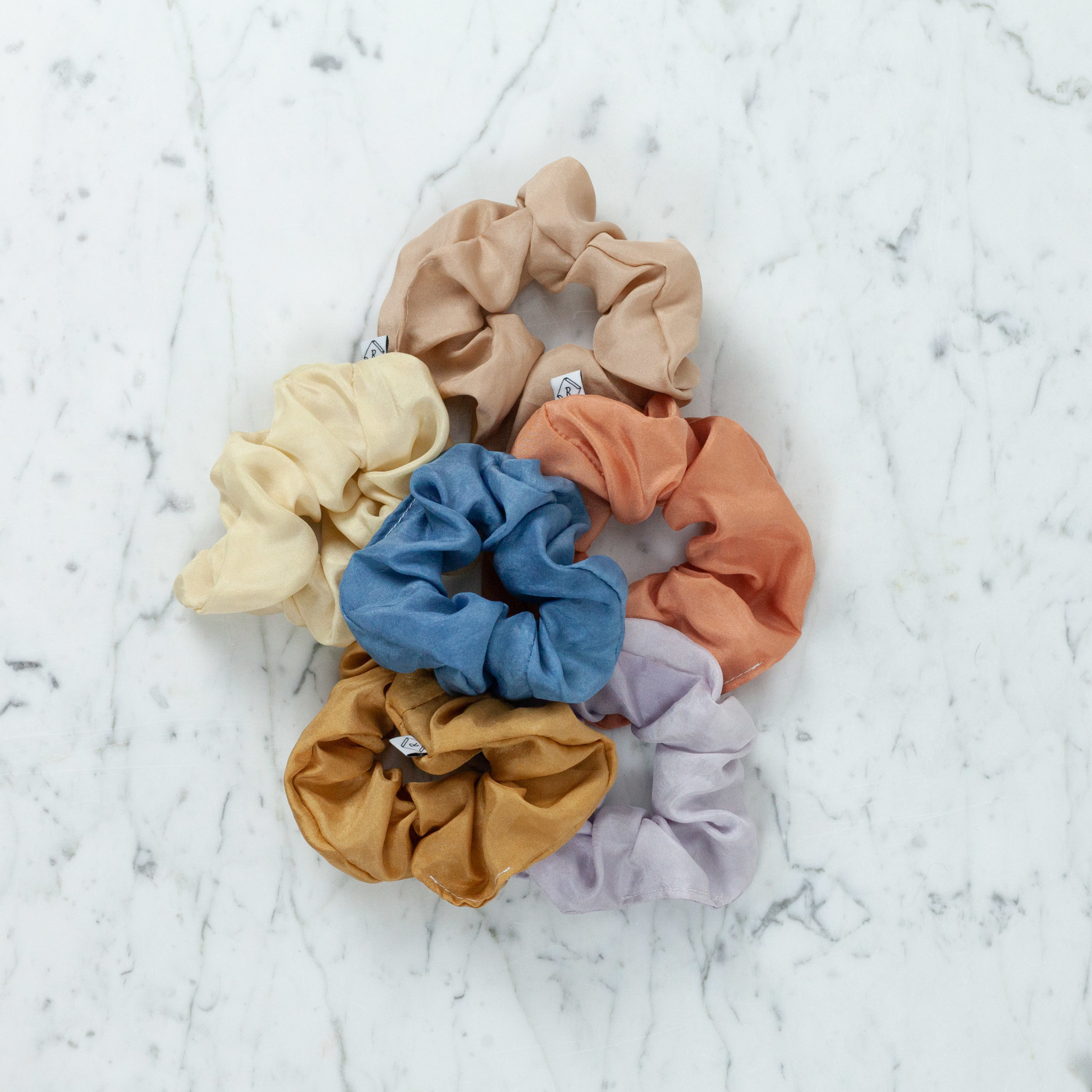 Rosemarine Textiles Plant Dyed Silk Scrunchie - Lavender
