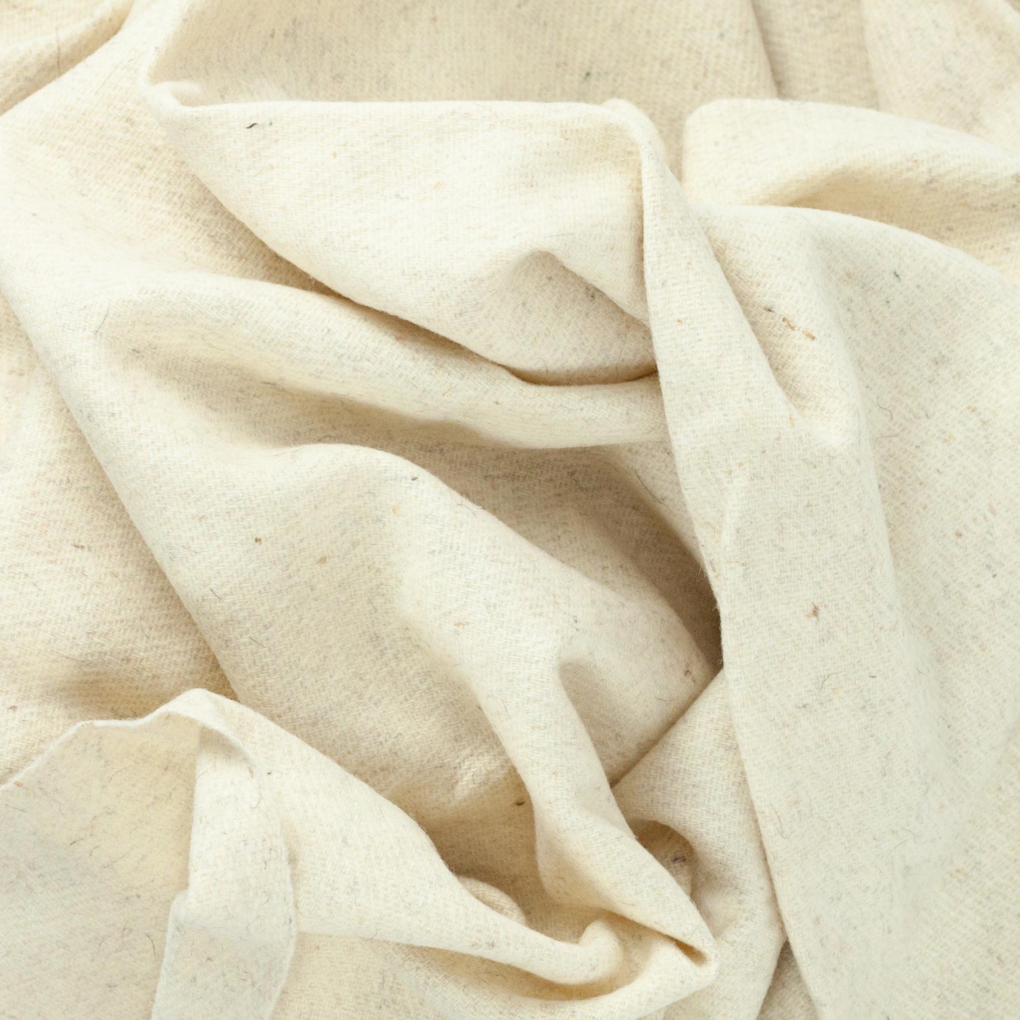 Rustic Wool Blanket - Cream