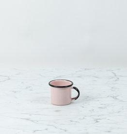 Mini Enamel Mug - Pink + Black