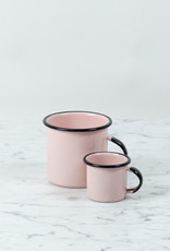 Mini Enamel Mug - Pink + Black