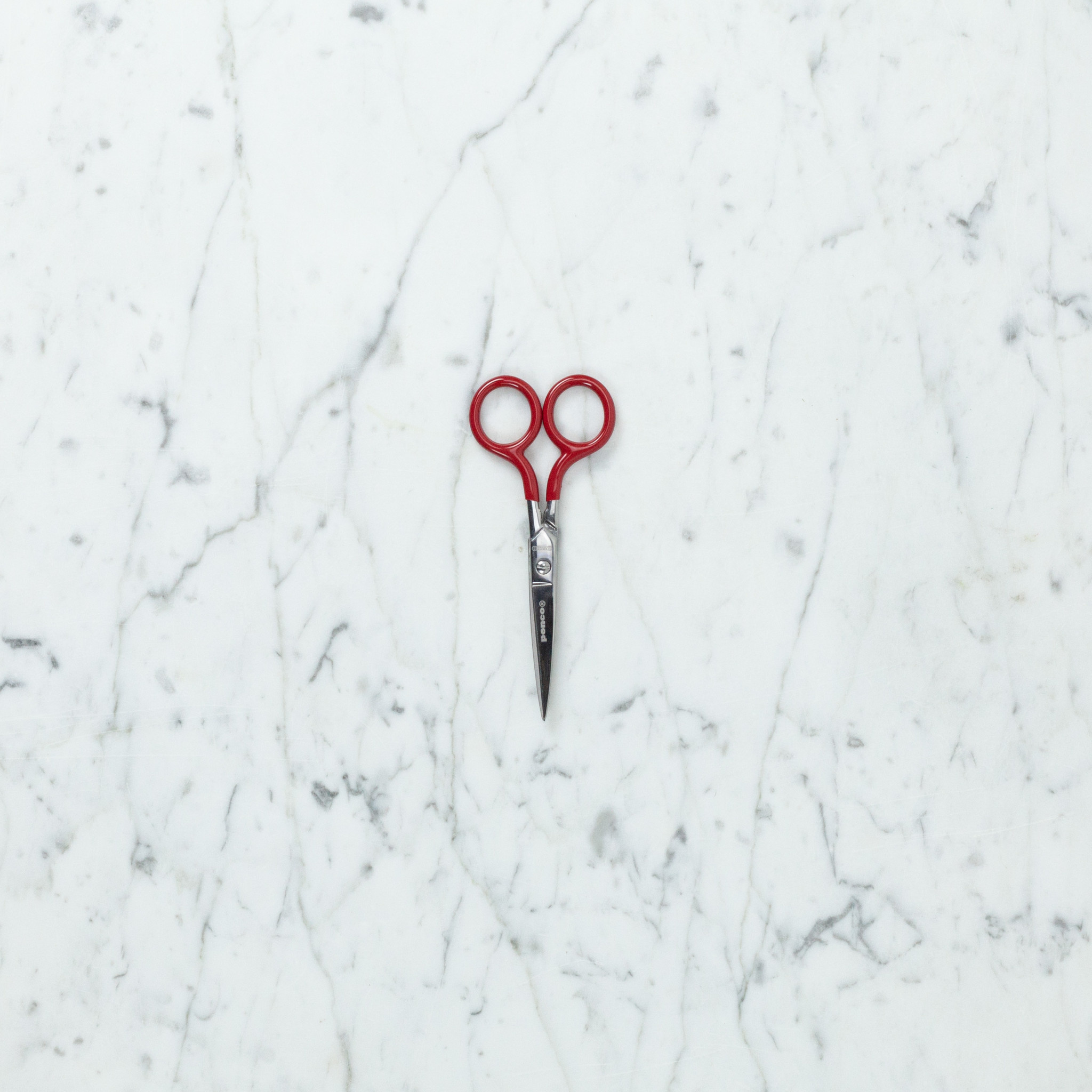 """Little Stainless Scissors with Red Grip Handles - 5"""""""