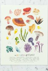"""Kelzuki Rainbow of Fungi Print by Kelzuki - 11 x 14"""""""