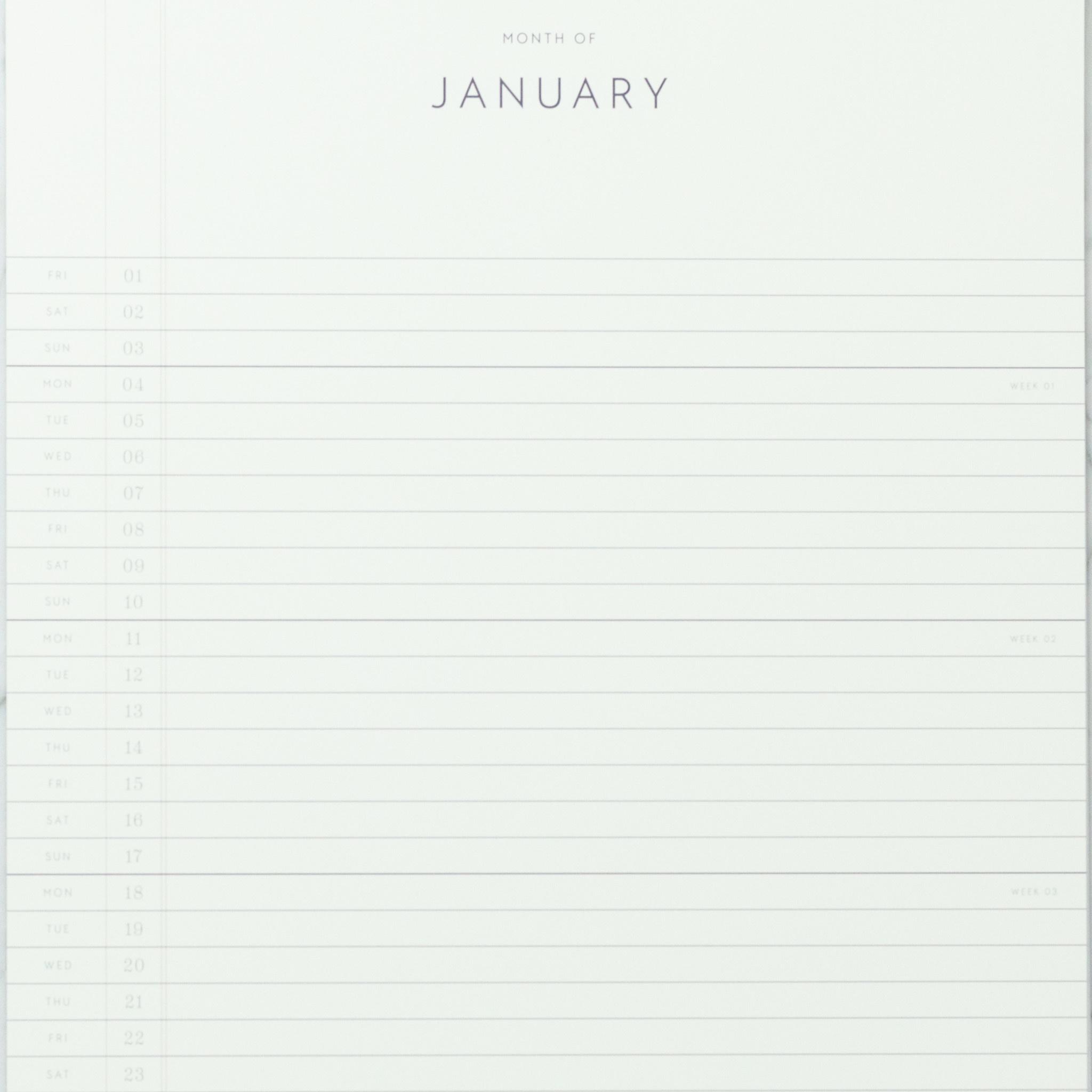 "Kartotek Simple Danish 2021 Wall Calendar - 11"" x 17"""