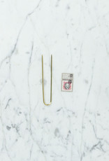 Positive Times Straight Brass Hair Fork - Small