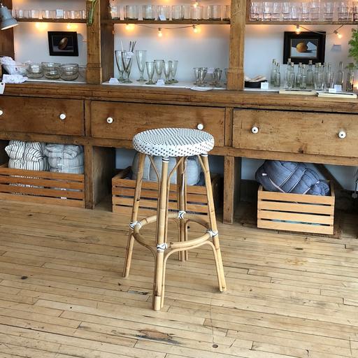 """Sika-Design FLOOR SAMPLE Simone Rattan Bar Stool - White - 30.5"""""""