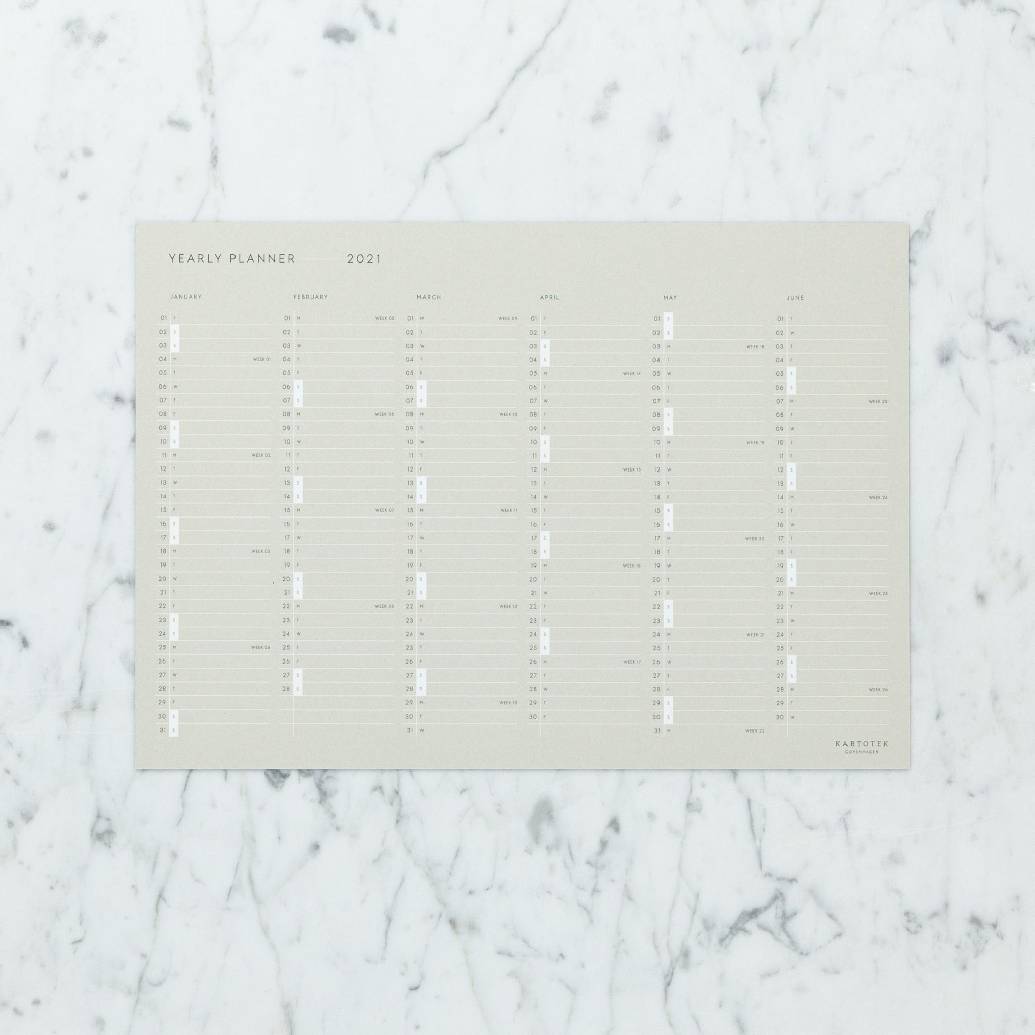 Kartotek Simple Danish 2021 Desk Calendar