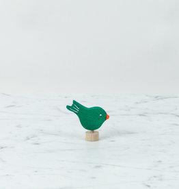 Grimm's Toys Celebration Green Pecking Bird