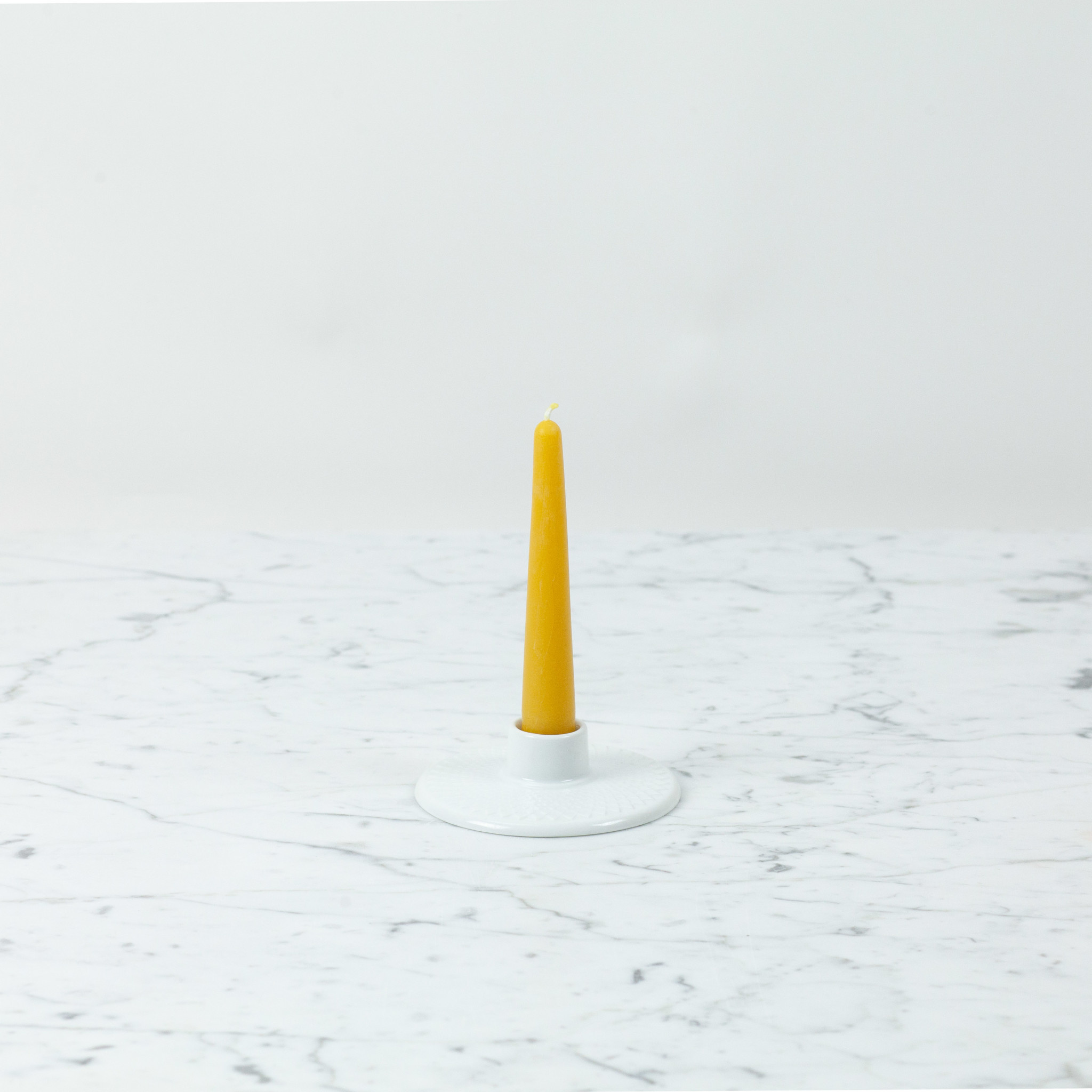 """Old Mill Candles Small Embellished Base Beeswax Taper 6"""""""