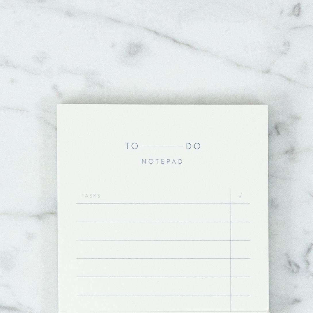 "Kartotek Simple Danish To Do Notepad - 3 3/4"" x 8"""