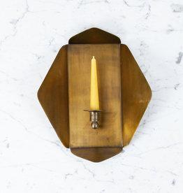 """Brass Quatrefoil Candle Sconce - 12.5 x 14"""""""