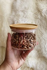Glass Storage Jar with Bamboo Lid - Small