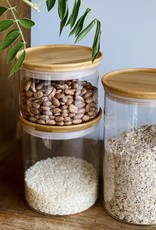 Glass Storage Jar with Bamboo Lid - Medium