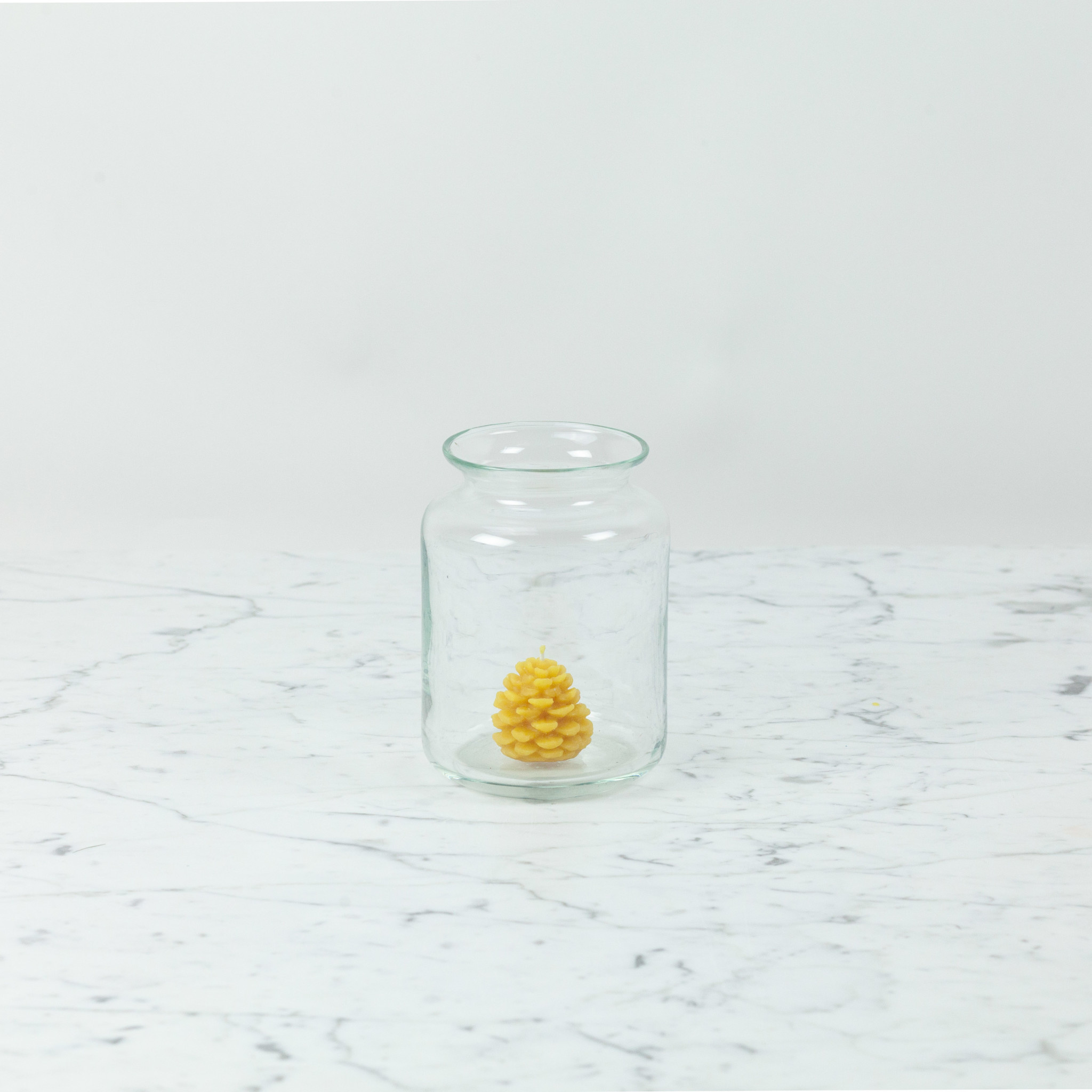 Henry Dean Squat Glass Vase with Lip