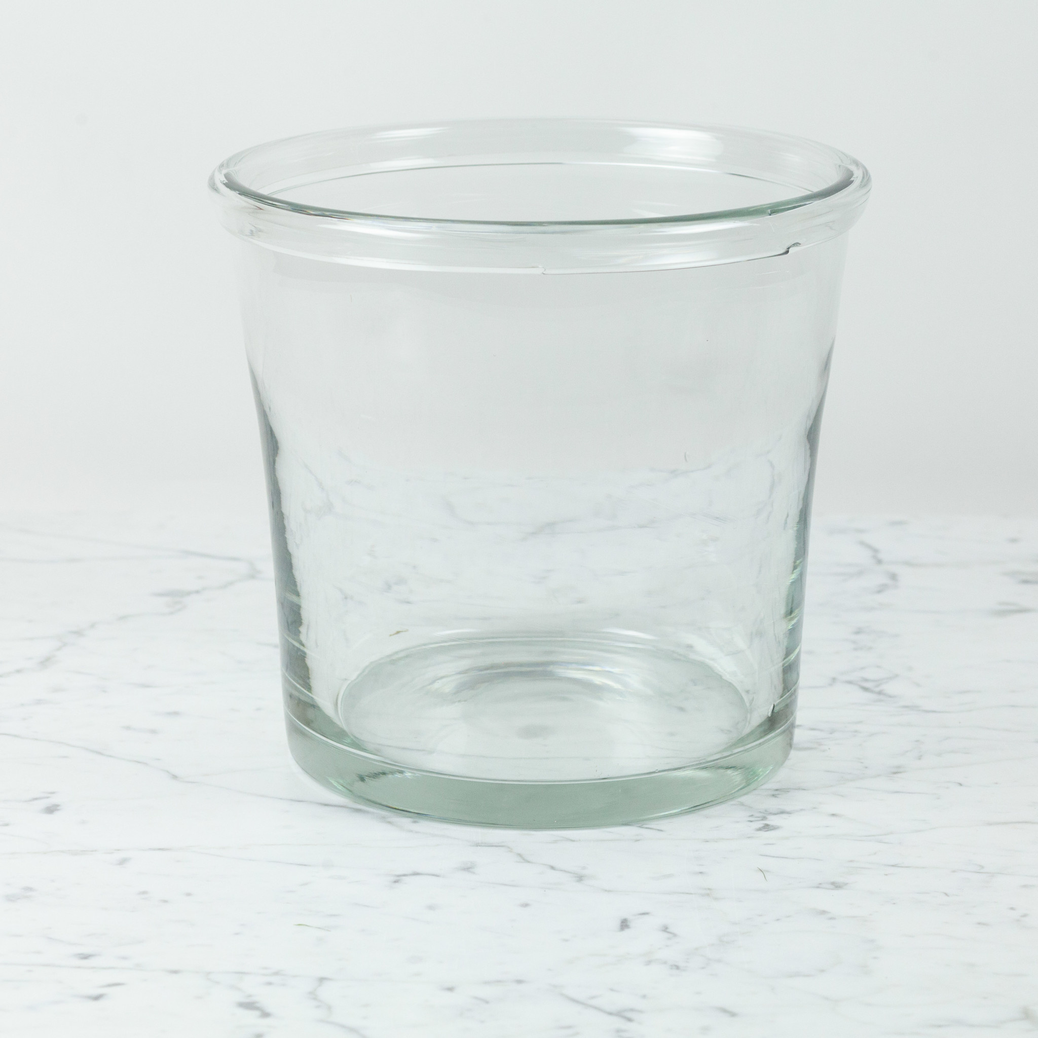 Henry Dean Wide Tapered Glass Vase with Lip