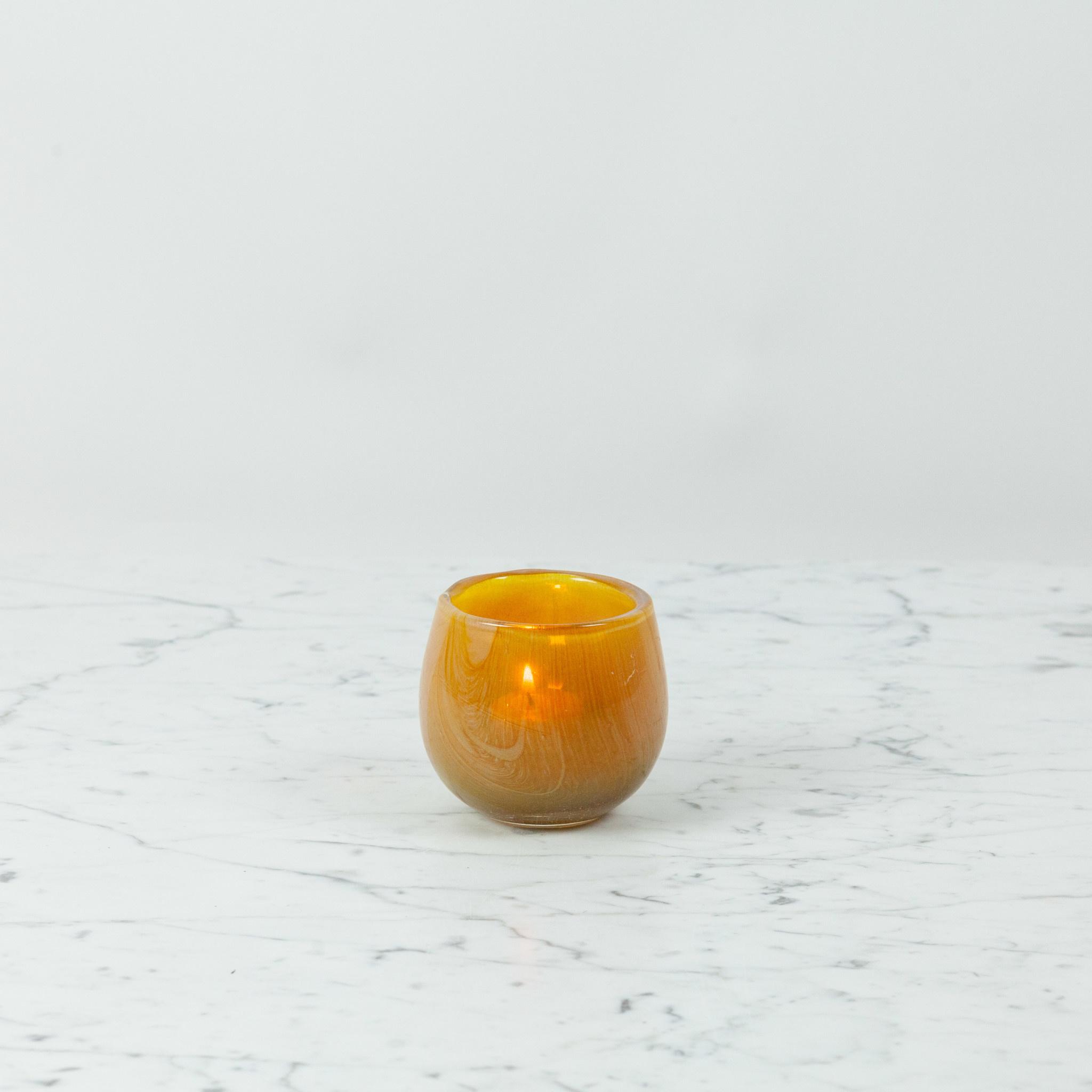"Henry Dean Tiny Clovis Vessel - Dijon - Yellow - 3 1/2"""