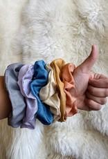 Rosemarine Textiles Plant Dyed Silk Scrunchie - Rust