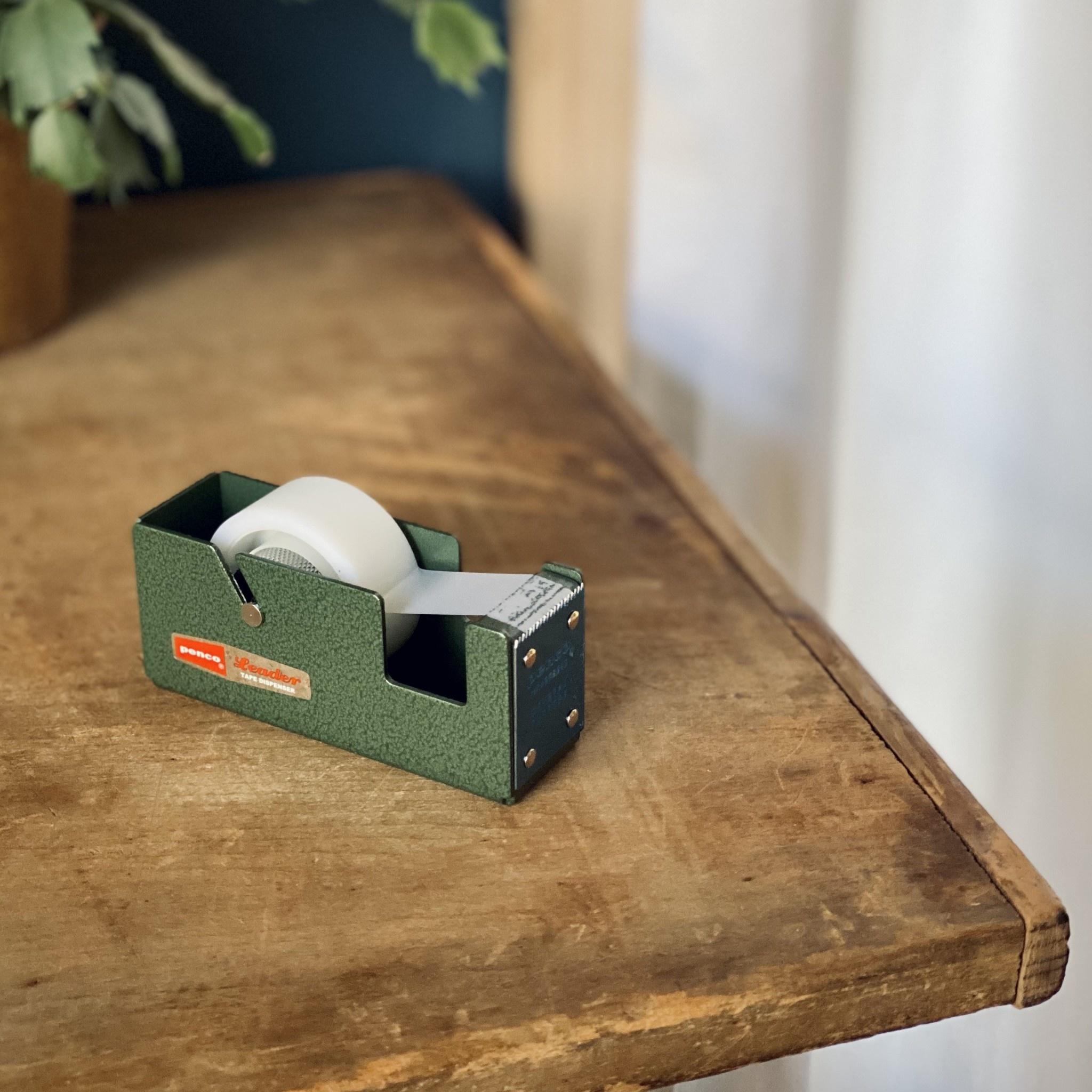 Small Desktop Tape Dispenser - Green