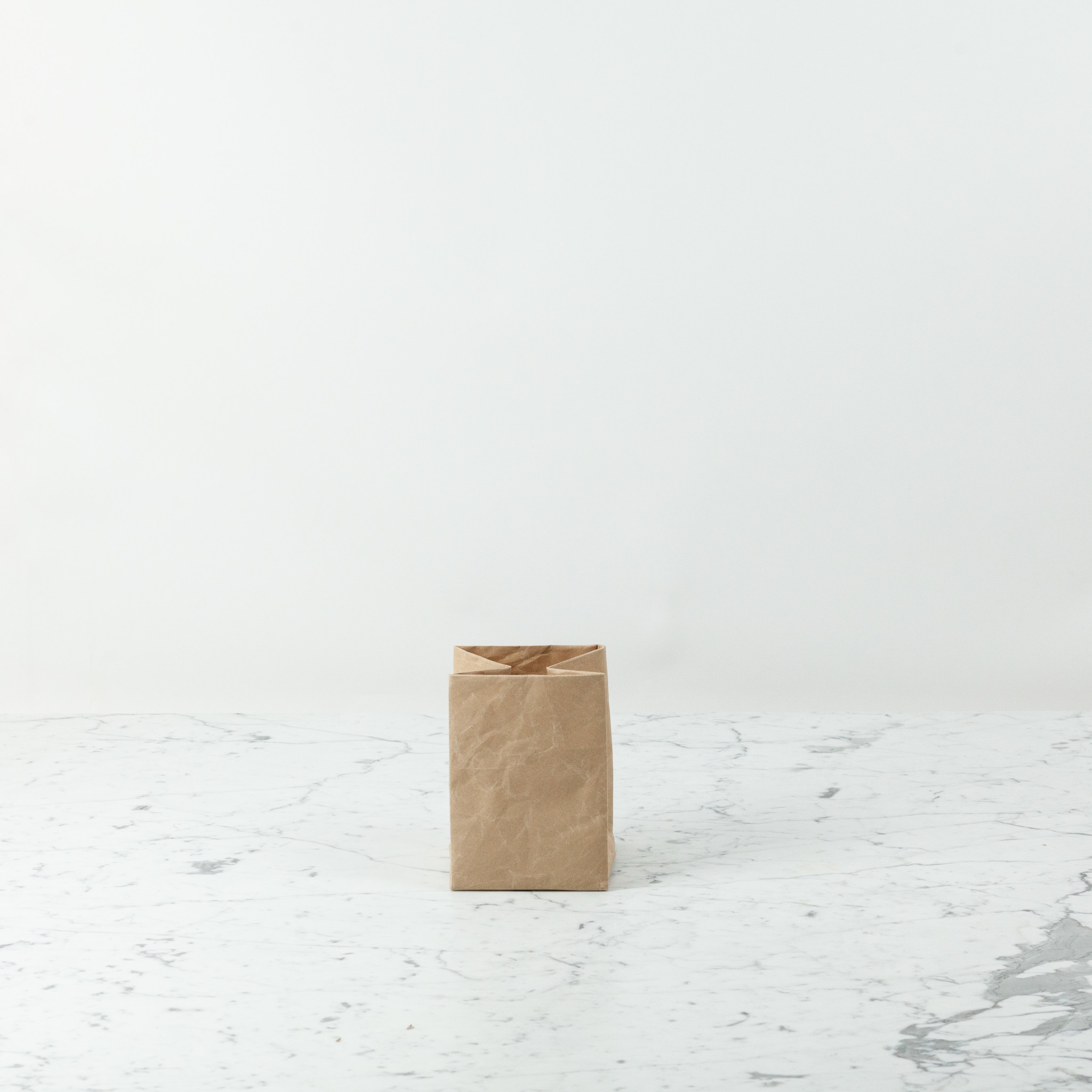 """Japanese Stitched Brown Paper Bag - Extra Small - 5 x 5 x 7"""""""
