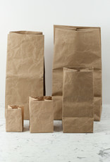 Japanese Stitched Brown Paper Bag - Tiny - 3.5 x 3.5 x 4.75""