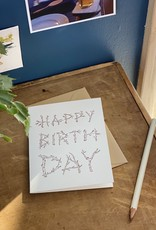 Loyal Supply Co Letterpress Birthday Branches Card