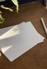 Pomegranate Press Letterpress Card and Envelope - Blue Lantern
