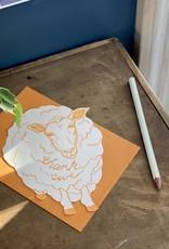 Blackbird Letterpress Letterpress Thank Ewe Card