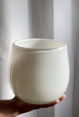 "Henry Dean Small Clovis Vessel - White - 6 1/2"""